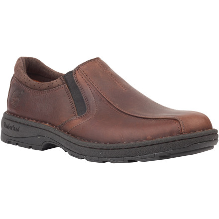 On top of having the longest name in the shoe industry, the Timberland Earthkeepers City Endurance Slip-On Shoe has an anti-fatigue midsole and footbed, organic cotton laces, recycled materials throughout, and a premium full-grain leather upper. All that in one shoe, you ask' Nope. The City Endurance Slip-On is sold in pairs. - $71.47