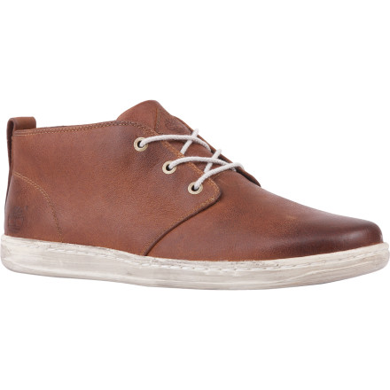 Slip on your Timberland Earthkeepers Hookset Chukka Shoe. The Hooksets' organic and recycled materials make for earth-friendly footprints. - $77.97