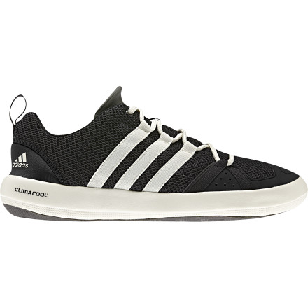 Fitness Your buddy thought it would be a good laugh to push you off the edge of the dock. Well, joke's on him because the Adidas Boat CC Lace Water Shoes are built for the water. Their quick-drying design lets you soak these summer kicks without worry. - $69.95
