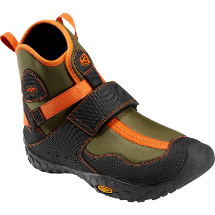 Kayak and Canoe Wet adventures call for comfortable water footwear like the Keen Men's Gorge Water Boot. Cinch down simple hook-and-loop straps, slide into your kayak or canoe, and hit the water with your feet comfortably insulated from chilly water and protected from unseen hazards. Rather than collecting water and sloshing like soaked sneakers the Gorge repels water and drains so it's easy to move around after you put your feet in the drink. As a bonus, antimicrobial-treated fabrics help to repel odor-causing bacteria before your boots turn infamously stinky. - $79.95
