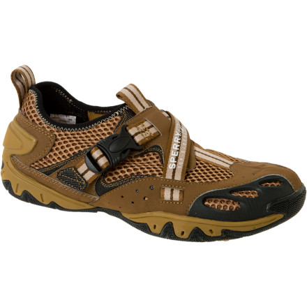 Camp and Hike When you only want to deal with one pair of shoes during your next river trip, wear the Sperry Top-Slider Men's Pine Buckle Water Shoes and forget just about it. Let these shoes get soaked on your way down the river and then keep them on for light hiking and camp chores. The modern look will even up your style points. - $62.97