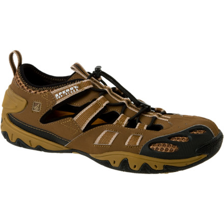 The most dangerous part of your river trip might not be the rapids; it might be the time you spend portaging your boat over slippery rocks and hazardous shallows. The Sperry Top-Sider Men's Ping Bungee Water Shoes help you keep your grip when you're walking in the wet. - $53.97
