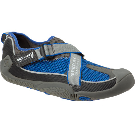 Before embarking on your next amphibious adventure, grab the Sperry Top-Sider Feedback Bootie Low Water Shoe. Whether your vessel of choice is a sailboat, oar rig, J-rig, or just an old bathtub fashioned into a pirate ship, this go-anywhere footwear accommodates every scenario from frantic last-minute tie-downs to afternoon side-hikes. - $45.47