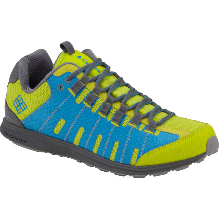 Camp and Hike Lace up the Columbia Men's Master Fly Shoes, start your sport-watch timer, and get moving. These lightweight, durable shoes with Omni-Grip rubber outsoles and traction lugs help you fly up the trail to beat your best summit time. - $89.95