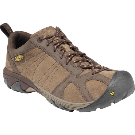 Camp and Hike 'Any trail at any time' might be your mantra, but without the sturdy KEEN Ambler Hiking Shoe supporting your steps, you'll never live up to your ambitious expectations. Tough waxed suede keeps out the puddles and withstands trail abuse, while a highly effective KEEN.ZORB Strobel structure cushions and stabilizes thousands of uneven steps. - $99.95