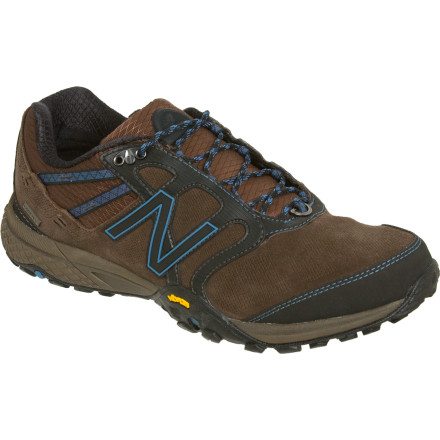Camp and Hike There might be 3500 feet between you and the peak, but you have the New Balance 1521 GTX Hiking Shoe to give you lightweight protection and quick-gripping performance during every step. That's good, because there might be a few thousand of them as you plant this shoe's flexible Vibram rubber outsole on the trail, scree, and bare rock. Part hiking shoe and part trail runner, the 1521 features a Gore-Tex membrane for moisture protection as well as a suede and mesh upper that flexes with your fast, numerous strides. - $111.96