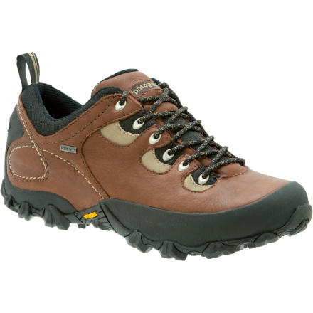 Camp and Hike The Patagonia Men's Drifter GTX Hiking Shoe is a Gore-Tex-lined, sturdy low-top hiker, manufactured under Patagonia's environmentally protective eye. While most companies producing earth-friendly shoes are sticking to the casual side of the line, Patagonia has produced the burly Drifter GTX from recycled components and leather tanned under environmentally stringent ISO-14001 standards. A full bellows tongue in combination with the Gore-Tex insert makes this light hiker fully waterproof and breathable, while the Capilene lining wicks away moisture from the inside. A grippy Vibram Ecostep outsole is well-suited to scrambling over rocks and wet roots that lay in your path. - $110.50