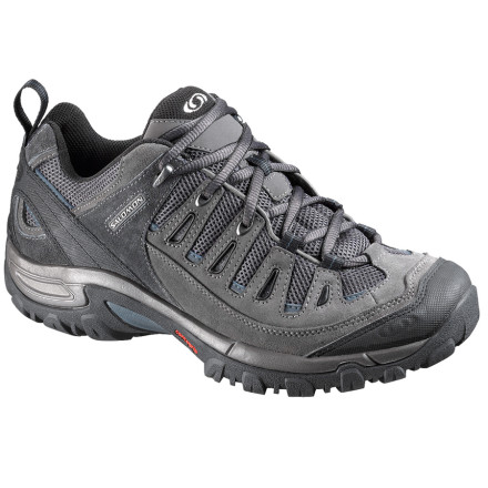Camp and Hike Your plastic flip-flops are killing your feet after a ten-mile hike, so next time slip on the Men's Salomon Exit Aero 2 Hiking Shoes. These lightweight hikers provide sturdy support for fast days on the trail. - $67.46
