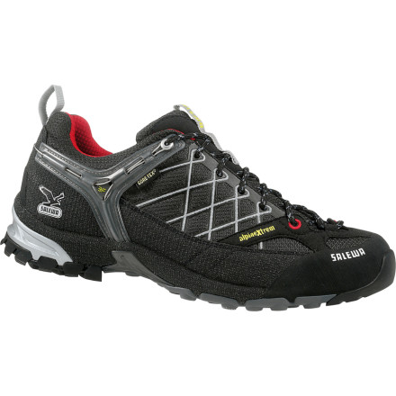 Camp and Hike The Salewa Mens Firetail GTX Hiking Shoe represents an evolutionary step forward, the missing link between a technical approach shoe and a lightweight trail runner. Specially-designed Vibram outsoles, climbing lacing, protective rands, and a customizable fit enable the state-of-the-art Firetail to handle approaches and descents on the most technical trails with ease and, thanks to the Gore-Tex insert, in any weather. - $148.95