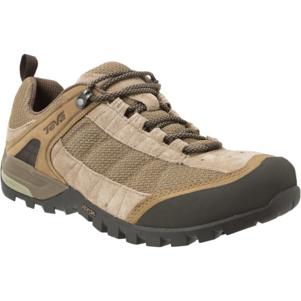 Camp and Hike The Teva Men's Riva Mesh Hiking Shoes enable you to take a quick hike out to a waterfall for a refreshing mid-afteroon dip. - $79.96