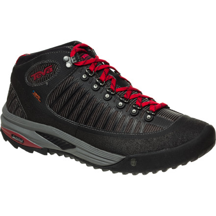 Camp and Hike A waterproof breathable eVent membrane and an extra-cushy Mush insole make the Teva Forge Pro Mid eVent Hiking Shoe the perfect place to hide your toes when the trail ahead promises ducks, dives, twists, and turns through slop and mud. - $111.96