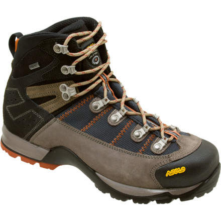 Camp and Hike Travel further on your next backpacking trip thanks to the comfort and versatility of the Asolo Fugitive GTX Men's Light Hiking Boots. Though they weigh only 3lb (size 8.5), these Asolo boots provide excellent support and traction with their burly Syncro outsole, and have an ultra-secure lacing system, which reduces heel lift. The Fugitive Boots' Gore-Tex lining keeps your feet bone dry on soaking-wet days, while their low-profile design makes the hike so comfortable you'll think you're strolling through the park in your sneakers. Once you take a trip in these sporty hiking boots, your old clodhoppers are doomed to gather dust in the closet. - $202.46
