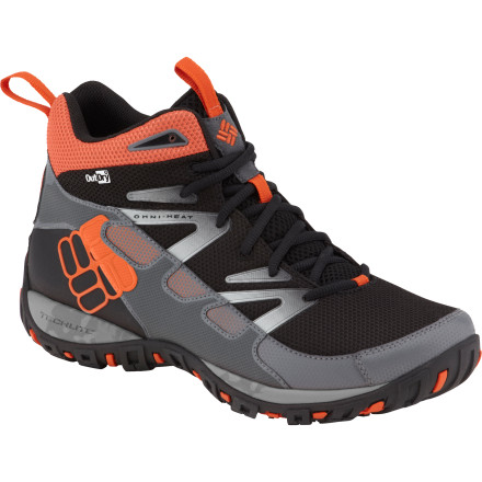 Camp and Hike The Columbia Pathgrinder Mid Omni-Heat OutDry hiking boot combines the light weight and comfort of a trail runner with the protection of a hiking boot. The OutDry waterproof breathable membrane keeps water from being absorbed into the outer layers of the shoe to keep it lightweight, and a midfoot TPU support bar adds torsional rigidity for added support with a load. - $74.98