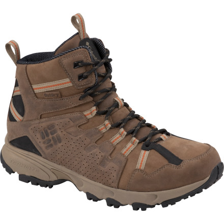 Camp and Hike Get deep into the backcountry with the Columbia Talus Ridge Mid Leather OutDry Boot. This waterproof breathable boot protects your foot with a tough leather upper, a Techlite dual-density midsole, and an Omni-Grip outsole for traction in any conditions. - $144.95
