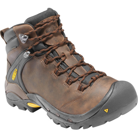Camp and Hike Featuring a sturdy leather upper and backed by KEEN's proprietary Keen.Dry waterproof breathable membrane, the Ketchum Hiking Boot makes minced meat out of tough climbs and steep descents. A classic look, quality materials, and rugged construction combine to help you put more miles between you and civilization. - $159.95