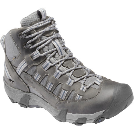 Camp and Hike Support, traction and waterproof protection are the name of the game for the Keen Men's Alamosa Mid WP Hiking Boot. Rather than pulling on a bulky, full-blown hiker, this lower-cut boot carries you through the same terrain and conditions safely. Keen engineers have a knack for keeping this mid-style boot light too, and when the miles start to add up, it'll make all the difference in the world. - $129.95