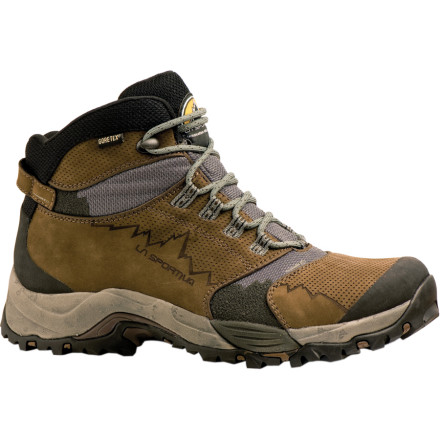 Camp and Hike Trek out into untouched wilderness with your loaded pack while you wear the eco-friendly, mid-height La Sportiva FC Eco 3.0 GTX Hiking Boot. Lightweight, breathable, and waterproof, this boot features comfortable support for hauling around your backpack loaded for the weekend, but the flexible mesh and nubuck leather upper also allow nimble movements for day hikes and side scrambles. To make your footprints less Earth-damaging, the FC Eco 3.0 was built with recycled materials and waste-saving methods of construction. - $157.46