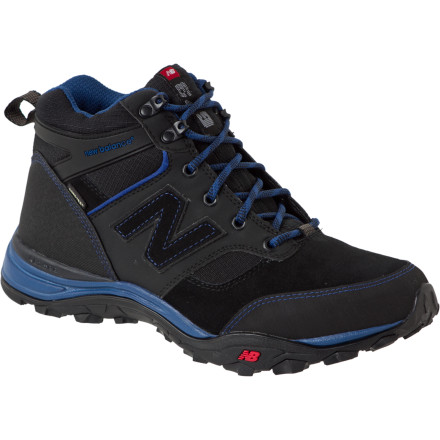 Camp and Hike You can use the New Balance 673 Multi-Sport Boot for hiking and backpacking any season of the year. The Gore-Tex insert keeps your foot dry and comfortable in rain and snow, and the C-Cap EVA midsole with ABZORB cushioning absorbs shock and reduces fatigue to help you crank out the extra miles to camp. - $59.98