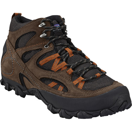 Camp and Hike When you look closely at the Patagonia Men's Drifter A/C Mid Hiking Boot, you start to see why so many hikers, backpackers, and off-the-beaten-path travelers rely on the reinforced design. The upper's web design cinches around your foot and ankle when laces are tightened to prevent movement within the boot and to allow you to maintain solid footing no matter how wet, loose, or rugged the trail surface may get. - $96.00