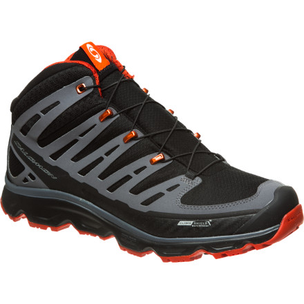 Camp and Hike Speed-oriented hikers who value support will relish the opportunity to pass the miles underfoot with the Salomon Synapse Mid CS Pro Hiking Boot. Built with the intuitive technologies of the base Synapse model but with the added support of a higher ankle line, the Synapse Mid CS Pro Hiking Boot helps you keep a steady, strong pace without risking fatigue or burnout. And if you happen to encounter some puddles or unexpected debris along the way, this boot has you covered for that, too. - $159.95