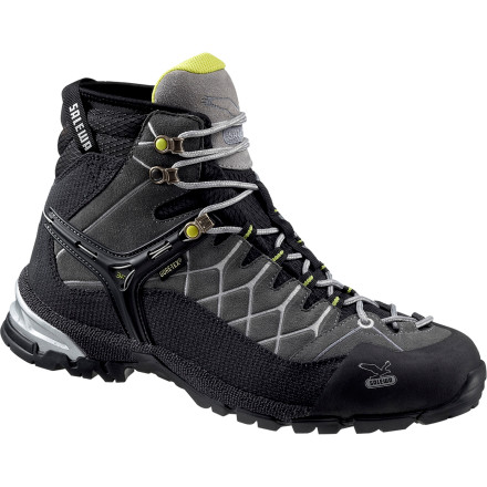 Camp and Hike You don't like limits, and you don't want to sit down to change your shoes every time the terrain changes. The Salewa Men's Alp Trainer Mid GTX Hiking Boots combine the lightweight comfort of hikers with the technical features of aggressive approach shoes. Burn through the miles on the flats or scramble to the base of a vertical face. Either, way your Alp Trainers are ready to move. - $139.27