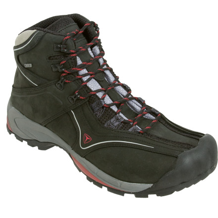 Camp and Hike For a down-and-dirty hiker that looks, feels and performs more like a mid-top shoe, look no further than the Treksta Assault GTX Hiking Boot. Built with a Gore-Tex waterproof breathable membrane and an ultra-tacky outsole, the Assault has the tools you need to motor through muddy, snowy, and icy trail conditions. - $125.97