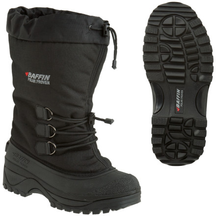 When arctic conditions roll into your neighborhood (assuming you dont live in the arctic), pull on the Baffin Mens Arctic Winter Boot and beat back the nastiness of winter. The 900D nylon cuff features a short lacing system for ankle support and a locking cinch cord on top to seal out blowing snow and cold air. The seven-layer inner boot system features Thermaplush insulation to block the cold and retain heat down to 40 below, and the durable rubber outsole features integrated arch support for snowshoeing, winter hikes, or just shoveling the front walk. - $91.96