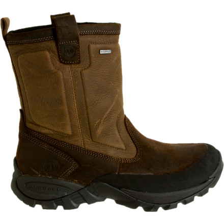 Entertainment Pull on the Merrell Bergenz Waterproof Boot on your way out to walk the dog first thing in the morning. If there is a chance that the dog gets all confused because of the cold and pees on your foot, then the waterproof membrane will provide a protective layer to keep your woolies warm. - $98.97