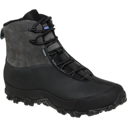 Patagonia designed the Men's Das Boot Mid to provide, comfort, traction, and protection in the dead of winter when you're tracking through deep snow and extremely low temperatures. A completely waterproof, abrasion-resistant upper keeps your foot dry and protected, an air cushion absorbs shock and impact, and Patagonia's exclusive heat-reflecting foil technology locks the warmth inside. - $96.25