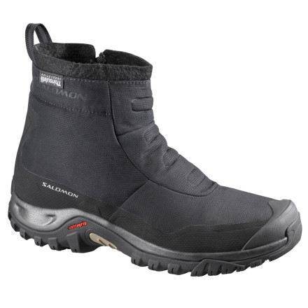 Camp and Hike Start your day off on the right foot with the Salomon Tactile TS WP Boot. Although this casual-looking boot might look like a cozy slipper, it comes packed with weather-protection features that will keep your toes warm and dry all winter long. - $77.97