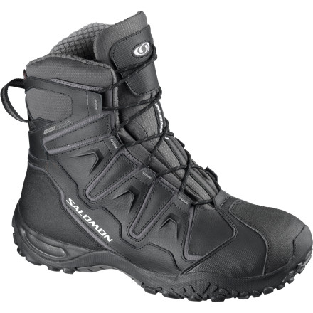 Fitness With the go-anywhere mentality of a massive snow machine and the nimble feel of a running shoe, the Men's Salomon Snowcat WP Winter Boot is built to perform in the harshest winter conditions. Rated to keep you warm in temperatures as low as 12 degrees below zero, you'll head for shelter long before these boots have seen their limit. The fully waterproof membrane and leather uppers dominate wet conditions while the Contragrip winter outsole provides a secure grip. - $104.97
