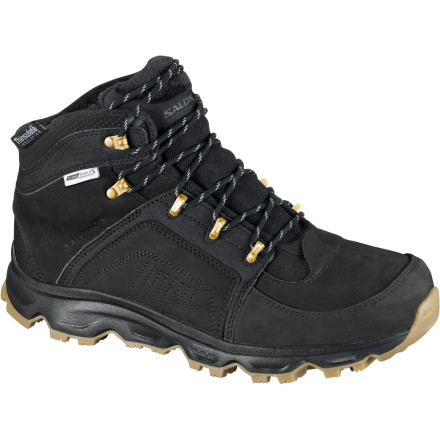 Camp and Hike Whether you're shoveling snow off the sidewalks, walking the dog, or going on a hike, the Men's Rodeo WP Winter Shoe from Salomon  is the go-to choice when the temps start to drop below freezing. The fully waterproof uppers and membrane block wet weather while 200g of Thinsulate insulation keeps you warm in temps as low as 10 degrees.  With the ice grip rubber sole and rubber spikes, you can be sure you'll have a secure grip in icy conditions. - $89.97