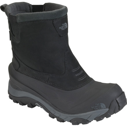 Camp and Hike If you have to choose one boot this winter, make it The North Face Arctic Pull-On II Boot. A hybrid of comfortable slipper and burly backcountry workhorse, this lace-free boot features 200-gram PrimaLoft Eco insulation to trap heat and keep out cold. A weather-resistant Nubuck leather upper withstands season after season of abuse and adventure. - $71.97