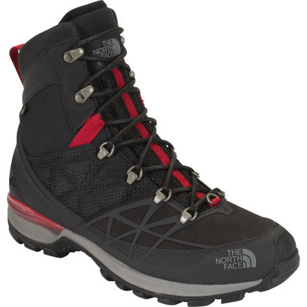 Camp and Hike When you need a lightweight, waterproof, performance-oriented boot with a lot of ankle support, turn to The North Face Men's Iceflare Tall GTX Boot. Equipped with a waterproof breathable Gore-Tex membrane, Zonal insulation, and a tall cuff, this durable winter boot provides all-day weather protection and warmth while you work outside in the cold, hike on groomed terrain, or snowshoe. - $107.97