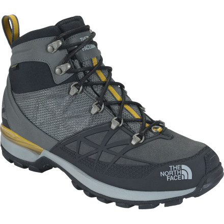 Whether you're in the snow-removal business, a lift operator, or a winter enthusiast, slide on The North Face Men's Iceflare Mid GTX Boot and relish in its superior warmth while you toil away. Zonal insulation technology offers stellar insulation in the areas of the foot where the most heat is lost, while lighter insulation on the sides prevent your foot from overheating. A waterproof breathable Gore-Tex membrane supplies bomber protection from wet slush, snow, and sleet, while IcePick temperature-sensitive lugs give you increased winter traction when you need it most. - $95.97