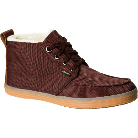 Tretorn added the waterproof breathable power of Gore-Tex to the street-savvy bo GTX Boots. Slip your feet into these lace-ups when you want a clean, casual look and serious weather protection. Making your way to work through snow and slush doesn't require bulky winter boots anymore. - $89.97