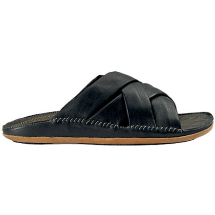 Entertainment Make yourself some kava tea to go with your Olukai Kava Slide Sandals, and you'll feel like you're lounging in a beanbag chair even if you're on your feet all day. Premium camel leather gives these sandals a supple feel and a great look. - $87.50