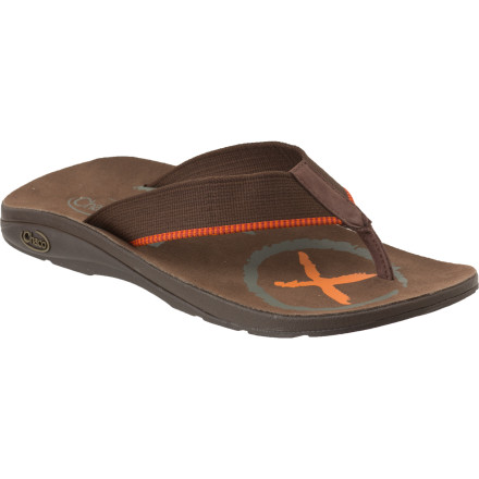 Surf The Chaco Hobo Flip Ecotread Sandal is as much fun to wear as it is to say. And when was the last time you were able to adjust your flip-flop' A continuous webbing strap loops through the midsole and allows you to make small adjustments for that optimal fit. The Hobo's ChaPU midsole provides specific cushioning to proven pressure points and helps you keep a natural and healthy gait from the shoreline to the backyard barbeque. - $27.98