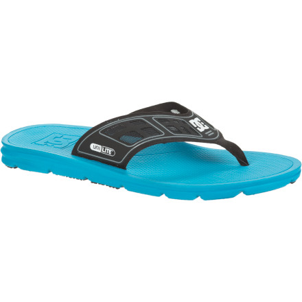 Surf You don't have to be a surfer, vagabond couch-surfer, or even live near the coast to reap the comfort benefits of the ultralight, insanely comfortable DC Men's Indo Sandals ... you just have to cut your toenails and wash your feet. - $20.00
