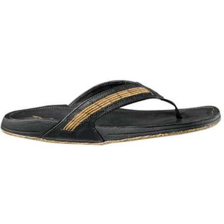 Surf Instead of burning through a pile of cheap-looking rubber sandals, invest in one solid, quality pair of flip-flops that will last and look good. The Olukai Kukui Sandals use rugged, classic design mixed with comfort-enhancing tech so your feet look good and feel great all summer, and the next summer, and the next .... - $50.00