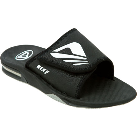 Surf Slide out of your Reef Men\s Adjustable BYOB Sandal and use the bottle opener located conveniently on the sole to crack a coldie. The BYOB has an adjustable hook-and-loop upper, so it will also be more comfortable than conventional sandals for you drinkers with chunky dogs or petite feet. - $49.46