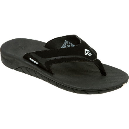 Surf Hit the sand or the streets with your feet wrapped in the leather comfort of the Reef Mens Slap II Flip Flop. Padded pigskin lining rubs you the right way while you down shots of bacon flavored vodka. The contoured EVA footbed provides plenty of arch support so you can enjoy the Slap II all day. - $35.96
