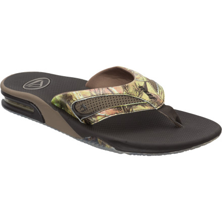 Surf Despite its authentic camouflage detail, we don't really recommend using the Reef Realtree Sandal for hunting. Unless you're hunting down some limes to go with that lager. - $35.97