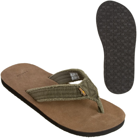 Entertainment Closed-toe shoes in the summertime' There's only one answer to that question, and it's to slip your convictions comfortably under the distressed canvas straps of the Sanuk Men's Fraid Not Sandals. The contoured suede footbeds caress and support your feet after a long day of hanging out on the porch, sipping lemonade and soaking in the hazy heat. Comfortable neoprene lines the instep, in case you should have to motivate down to the corner store in search of some Old Bay seasoning. - $12.59