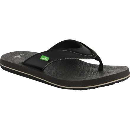 Surf The Sanuk Beer Cozy Sandal is made out of beer cozies. Not exactly space age, but we're backing it, and how could we not' Afterall, we are huge advocates of barbecution, chillin', and summer. It's all comfortable, durable, and smile-evoking. - $27.16