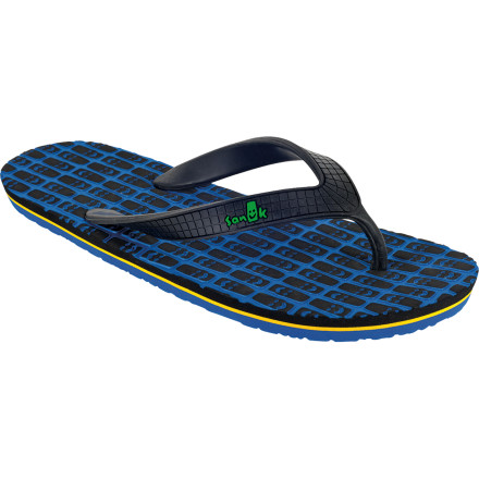 Surf Mellow out with the Sanuk Tiki Sandal while you sit back in your favorite lawn chair with your favorite mixed drink and sip your worries away. You don't even have to be at the beach, putting your feet in a kiddie pool on your front lawnTiki and allwill suffice. - $11.97