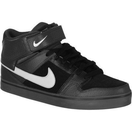 Skateboard The Nike 6.0 Mogan Mid 2 SE Skate Shoe features the same updated board-feel-enhancing sole as its lower-topped cousin, with a higher cuff for a little extra ankle support. A built-in Zoom shock-absorbing unit takes the edge off those loading dock ollies-to-flat. - $55.97