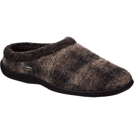 Entertainment Once the temperatures dip and its too cold for sandals slide your feet into the warm Acorn Men's Digby Slipper. Refined detailing and a durable construction makes the Digby perfect for kicking around the house on a Sunday or meandering across the yard to grab the mail. A low-cut ankle gives your feet plenty of freedom to move around and the sherpa-fleece lining means plush comfort from Fall until Spring. - $39.96
