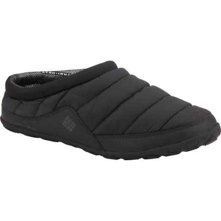 Entertainment Whether you're just sitting at home with the remote or kicking back in camp after a brutal 20-mile hike, the Columbia Packed Out Omni-Heat Slipper will keep your feet warm and comfortable. - $32.97