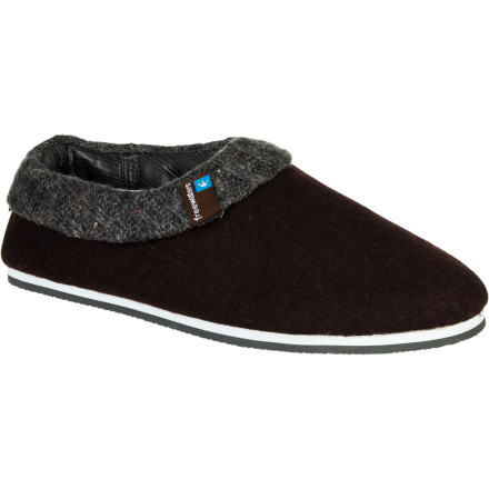 Entertainment With an insulating and moisture-wicking felted wool shell, a washable liner that's removable, and a super-grippy, non-marking rubber sole, the Freewaters Homer Slipper will be your go-to lazy-day footwear. - $29.97